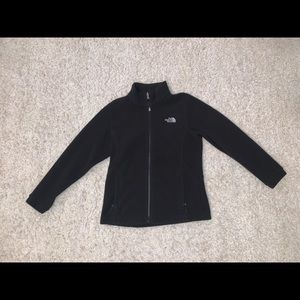 Black North face zip up jacket